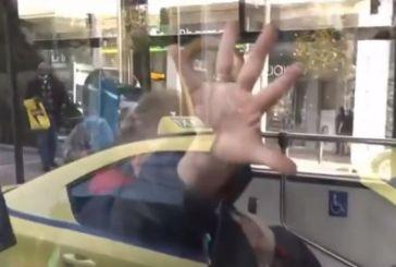 Ηλικιωμένη έριξε μούντζα στην κάμερα του Star που την τράβαγε με κατεβασμένη μάσκα