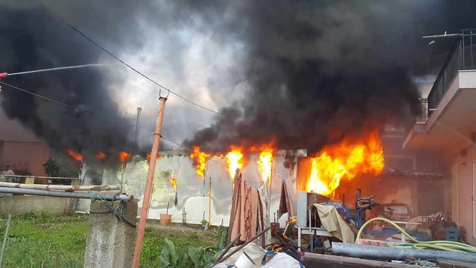 Φωτιά προκάλεσε ζημιές σε οικία στην Πλαγιά