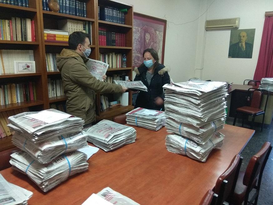 Ξεκίνησε από τις Οργανώσεις ΚΚΕ στο Αγρίνιο η διακίνηση των Θέσεων για το 21ο Συνέδριο