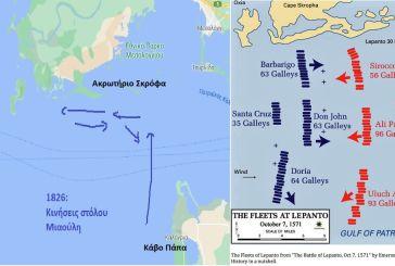 """Τι κοινό έχουν η Ναυμαχία της """"Ναυπάκτου""""το 1571 και η  πολιορκία του Μεσολογγίου το 1826."""
