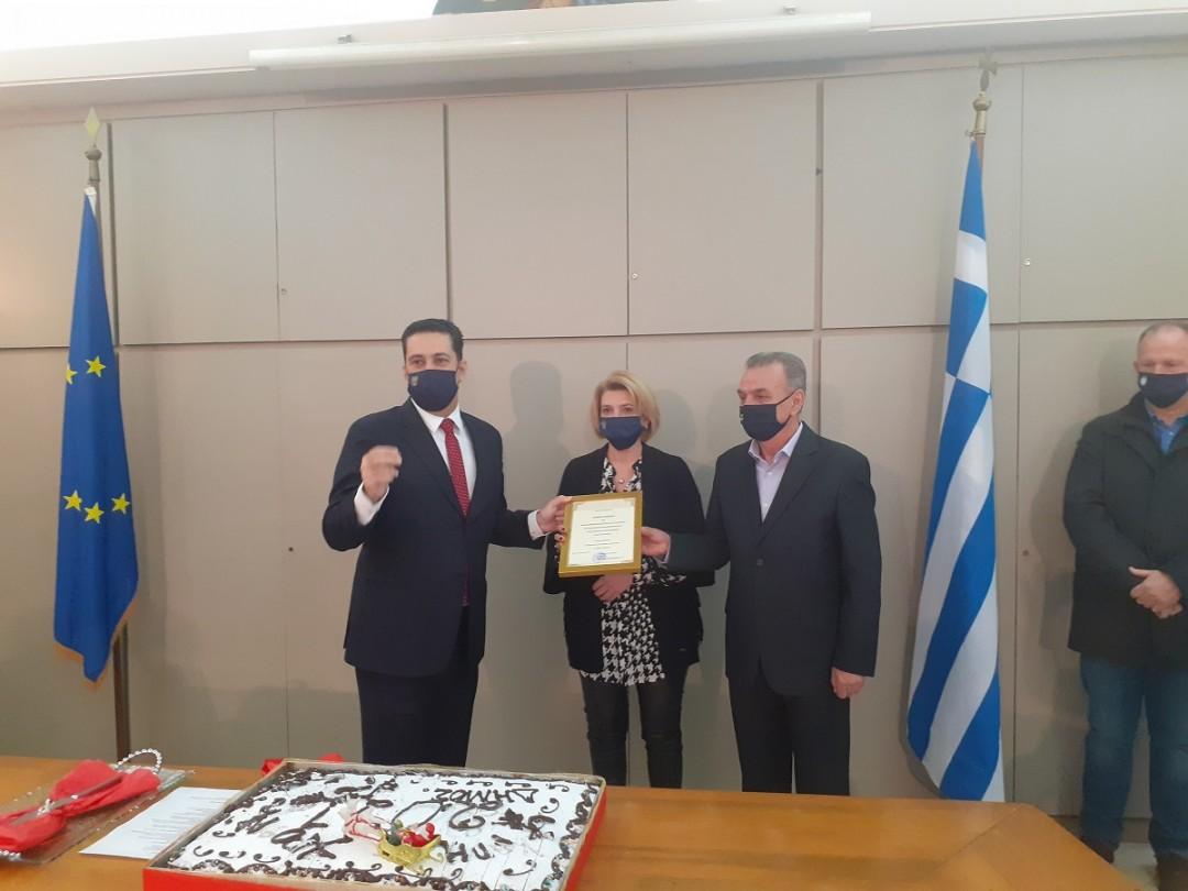Συμβολική αλλά με τιμητικές βραβεύσεις η κοπή πίτας των εργαζομένων του δήμου Αγρινίου