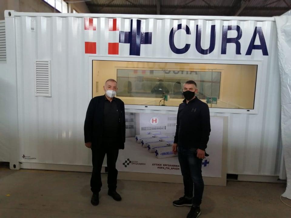 Αγρίνιο: στην εταιρεία που κατασκευάζει κινητές ΜΕΘ ο πρόεδρος του Επιμελητηρίου