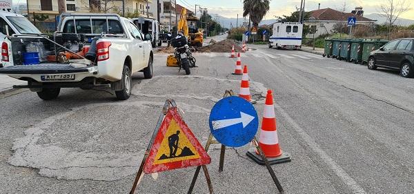 Αγρίνιο: οδηγοί, προσοχή στο Γιαννούζι-εργασίες της ΔΕΥΑΑ