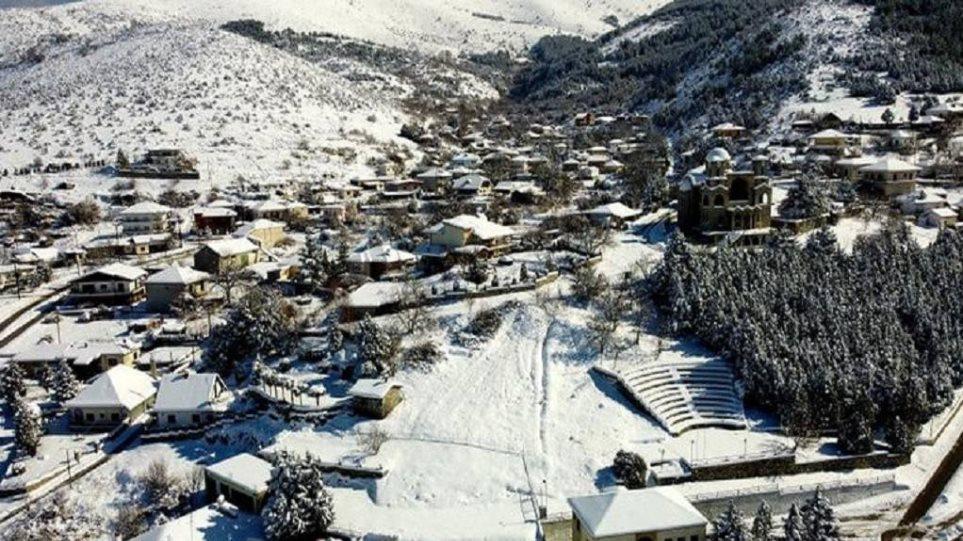 Μεσόβουνο: Το χωριό με το ρεκόρ χαμηλής θερμοκρασίας, στους -20 το θερμόμετρο