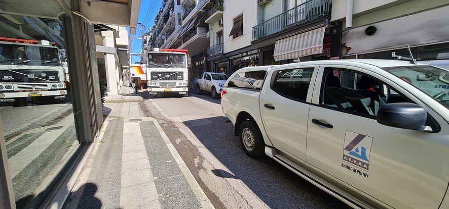 Αγρίνιο: Κλειστή ως το μεσημέρι η οδός Δαγκλή λόγω εργασιών της ΔΕΥΑ