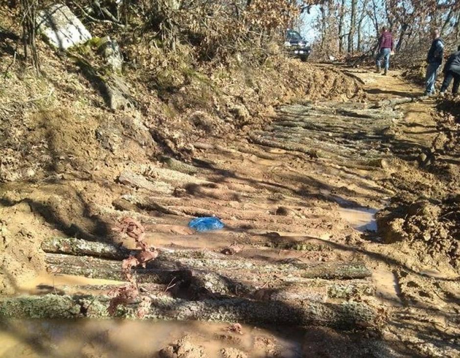 Άνω Κεράσοβο: Με κορμούς δέντρων έφτιαξαν πρόσβαση προς τις κτηνοτροφικές μονάδες οι κάτοικοι