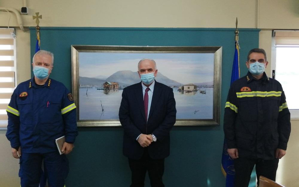 Με τους νέους διοικητές της Πυροσβεστικής συναντήθηκε ο Δήμαρχος Μεσολογγίου