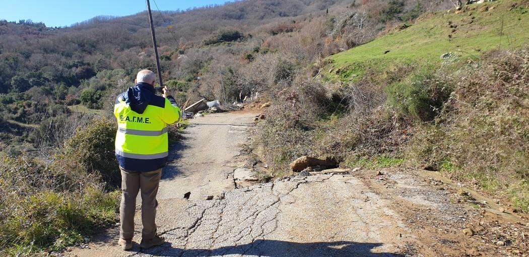 Επιθεώρηση σε Άνω Κεράσοβο και άλλες πληγείσες περιοχές από κλιμάκιο της ΕΑΓΜΕ
