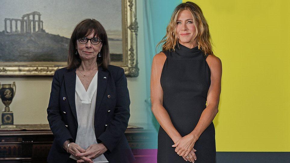 Τζένιφερ Άνιστον: Αποθεώνει την Κατερίνα Σακελλαροπούλου ως «γυναίκα που φέρνει την αλλαγή»