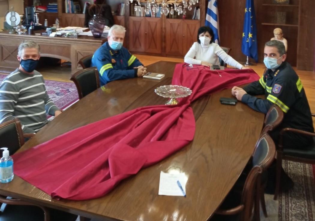Με τους νέους διοικητές της Πυροσβεστικής συναντήθηκε η Αντιπεριφερειάρχης Αιτωλοακαρνανίας