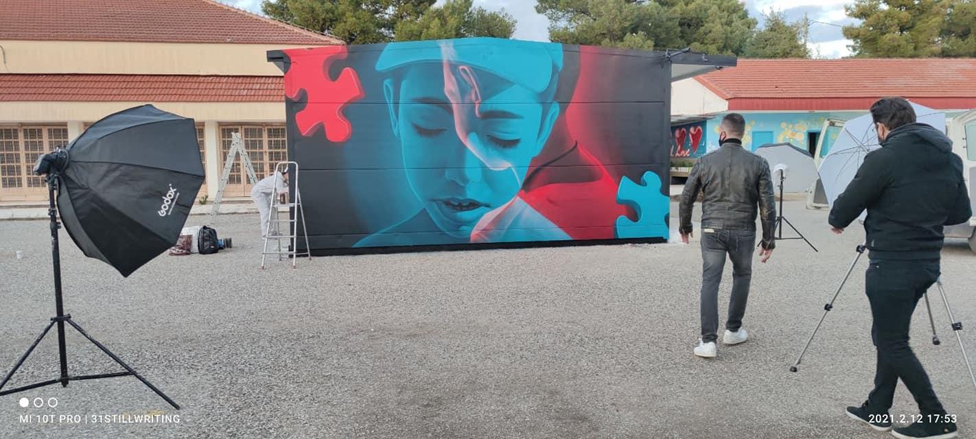 Δια χειρός Insane 51 γκράφιτι για τον αδικοχαμένο Βασιλάκη στο Μεσολόγγι
