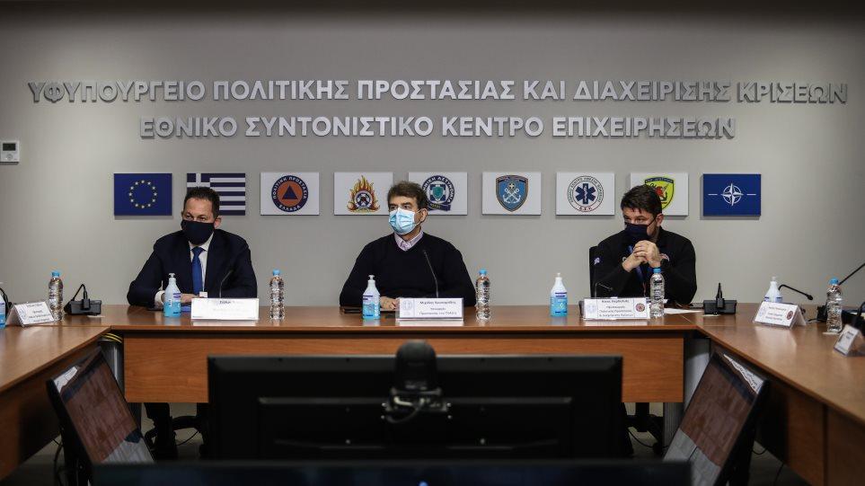 Κακοκαιρία «Μήδεια»: Νέα σύσκεψη στην Πολιτική Προστασία υπό Χρυσοχοΐδη και Χαρδαλιά