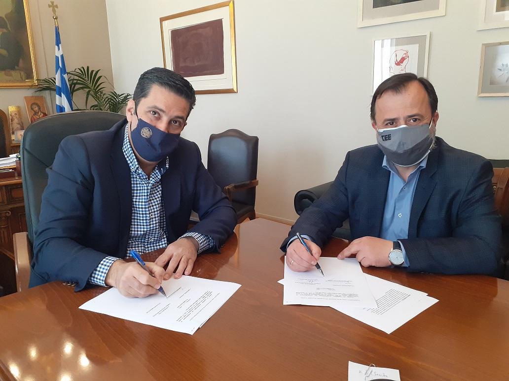 ΤΕΕ και δήμος συνεργάζονται για τις παρεμβάσεις σε κοινόχρηστους χώρους του Αγρινίου