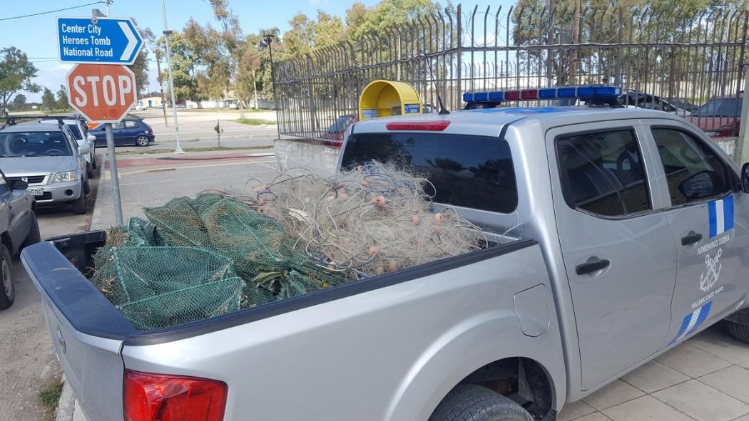 Κατασχέθηκαν παράνομα αλευτικά εργαλεία στη λιμνοθάλασσα Μεσολογγίου
