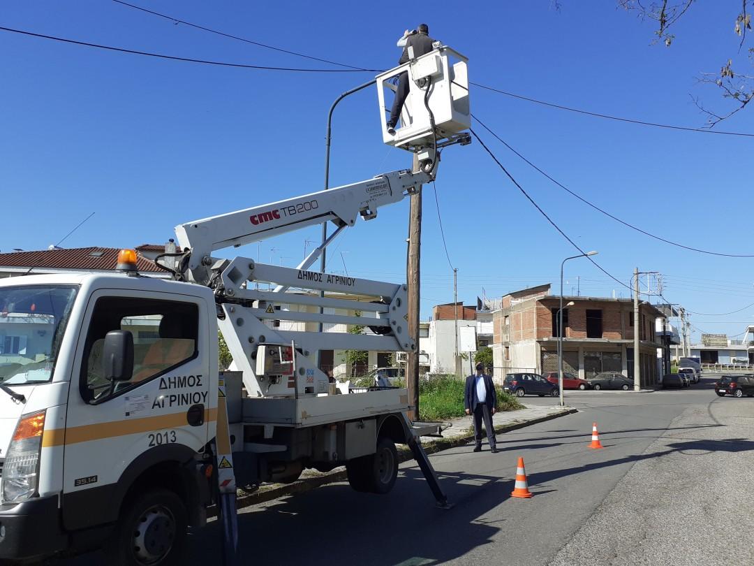 Παρεμβάσεις από συνεργεία του δήμου Αγρινίου στην Εθνική Οδό