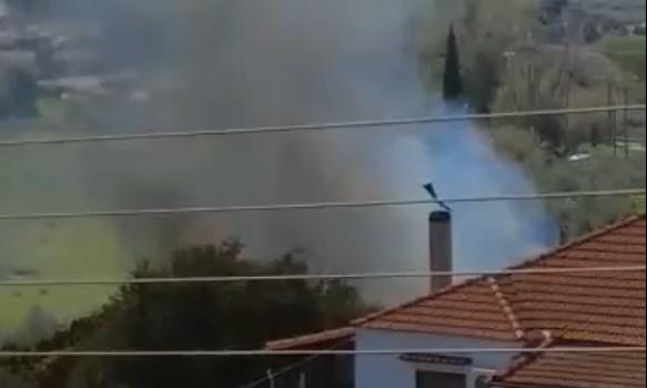 Κινητοποίηση της Πυροσβεστικής για φωτιά κοντά στα Τριαντέικα (βίντεο)