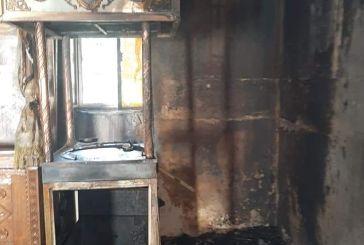 Μονή Κατερινούς: μεγάλες ζημιές από τη φωτιά αλλά άθικτη η εικόνα της Παναγίας-βραχυκύκλωμα η αιτία