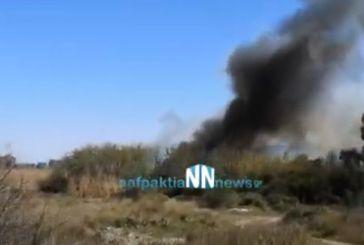 Ναύπακτος: Πυρκαγιά στην περιοχή του Πούντου (βίντεο)