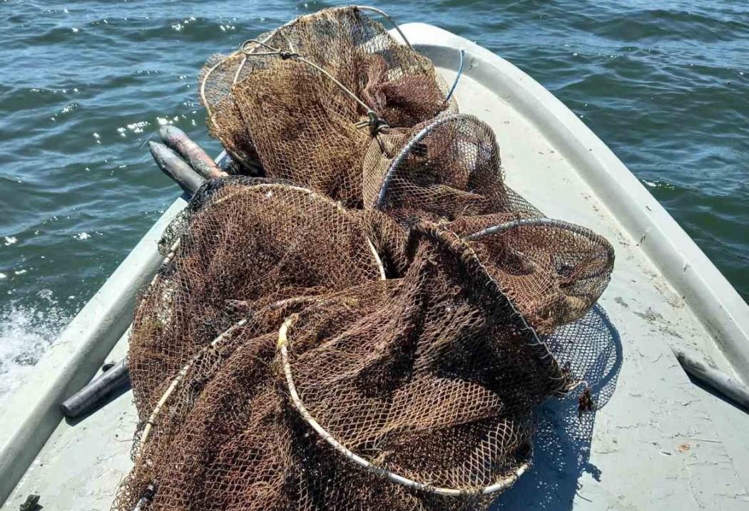 Παράνομα αλιευτικά εργαλεία εντόπισαν λιμενικοί στην Αγία Τριάδα Αιτωλικού