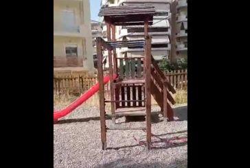 Αγρίνιο: με βίντεο εκφράζει την οργή του για τα χάλια μιας παιδικής χαράς
