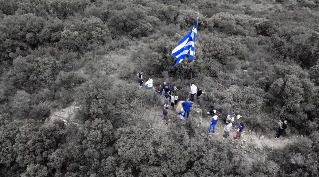Η γαλανόλευκη που κυματίζει περήφανη στη Σπολάιτα! (βίντεο)