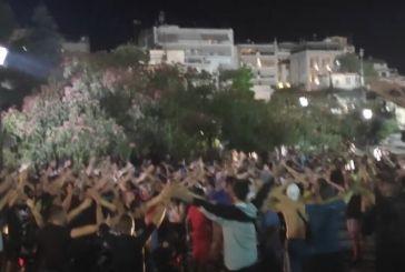 Αγρίνιο-Παναιτωλικός : Οι πανηγυρισμοί των οπαδών για την παραμονή (video)