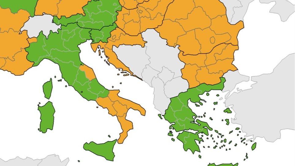 ECDC: Παραμένει «πράσινη» η Ελλάδα στον δείκτη θετικότητας – Κάτω από 4%