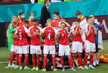 Η συγκλονιστική φωτογραφία με την ομάδα της Δανίας να γίνεται ασπίδα πάνω από τον πεσμένο Έρικσεν