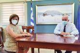 Γνώρισε τη νέα διοίκητρια του Νοσοκομείου ο δήμαρχος Μεσολογγίου