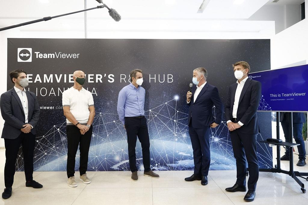 Μητσοτάκης στην TeamViewer: Τα Ιωάννινα θα μετατραπούν σε κόμβο τεχνολογίας