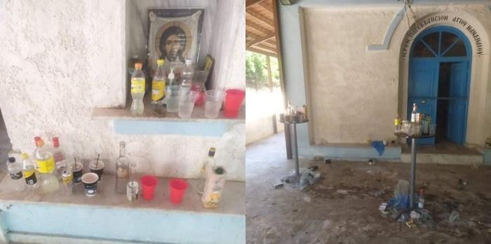 Απίστευτο: Μετέτρεψαν το παρεκκλήσι σε μπαράκι και έκαναν κορονοπάρτι στη Νιγρίτα