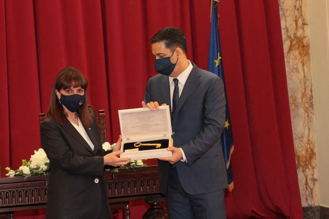 Επίτιμη Δημότης Αγρινίου η Πρόεδρος της Δημοκρατίας, Κατερίνα Σακελλαροπούλου