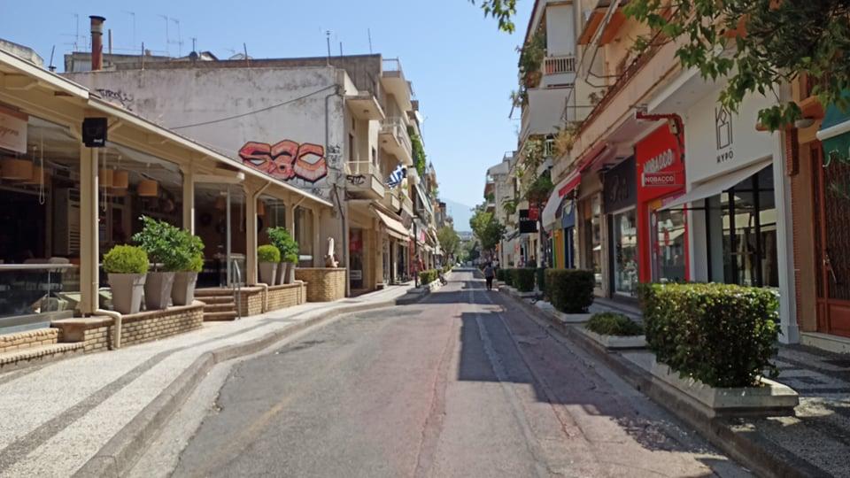 Μόνο ο… καύσωνας στο κέντρο του Αγρινίου (φωτο)