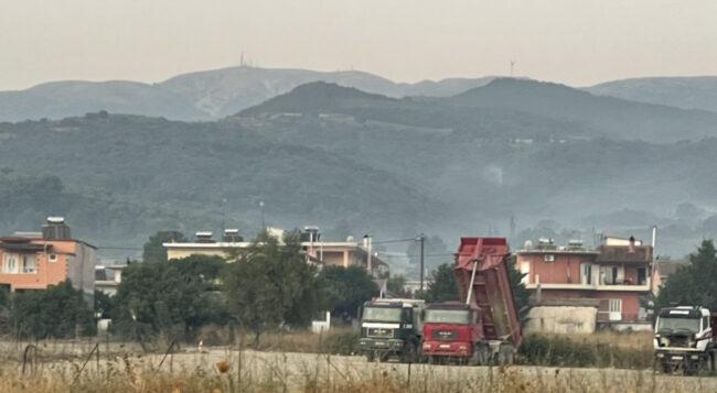 Υπό μερικό έλεγχο η φωτιά στο Δρυμό – κάηκαν ελαιώνες – Καλύτερη η εικόνα σήμερα