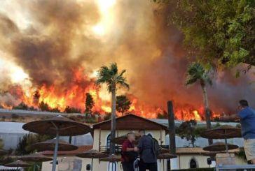 Φωτιά στην Αχαΐα: Έφτασε στην περιοχή ο Χαρδαλιάς, κυκλοφοριακές ρυθμίσεις στην γέφυρα Ρίου – Αντιρρίου