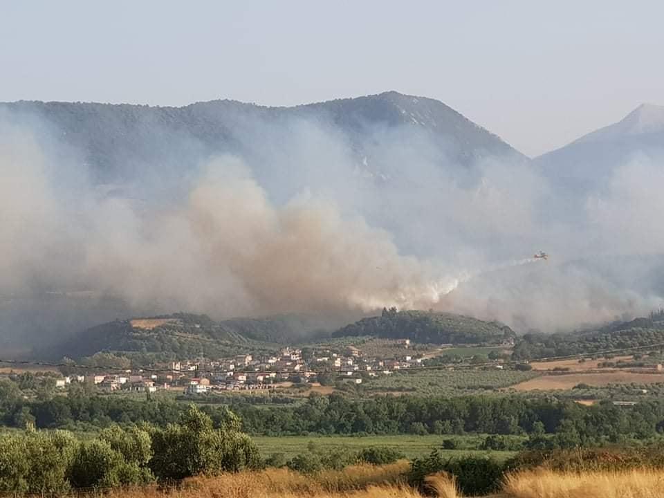 Περιοδεία της Τ.Ο. Αιτωλοακαρνανίας του ΚΚΕ για τη φωτιά σε Θύρρειο και Δρυμό την Κυριακή