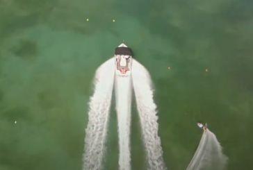 Λίμνη Στράτου: Μοναδικά εναέρια πλάνα από τα Πανευρωπαϊκά Πρωταθλήμα Θαλασσίου Σκι (βίντεο)