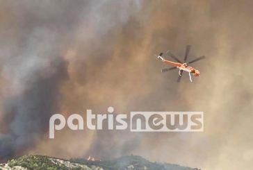 Πληροφορίες για εγκλωβισμένους στη μεγάλη φωτιά της Ηλείας