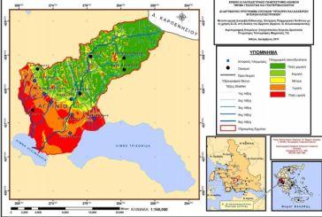 """Χάρτης επικινδυνότητας για πλημμύρες σε Αγρίνιο-""""Λεκάνη Ερμίτσας"""""""