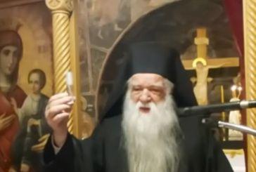 Χαμός σε εκκλησία της Αχαΐας με τον Αμβρόσιο: Έβγαλε ψεκαστήρι που έλεγε ότι είχε το φάρμακο για τον κορωνοϊό