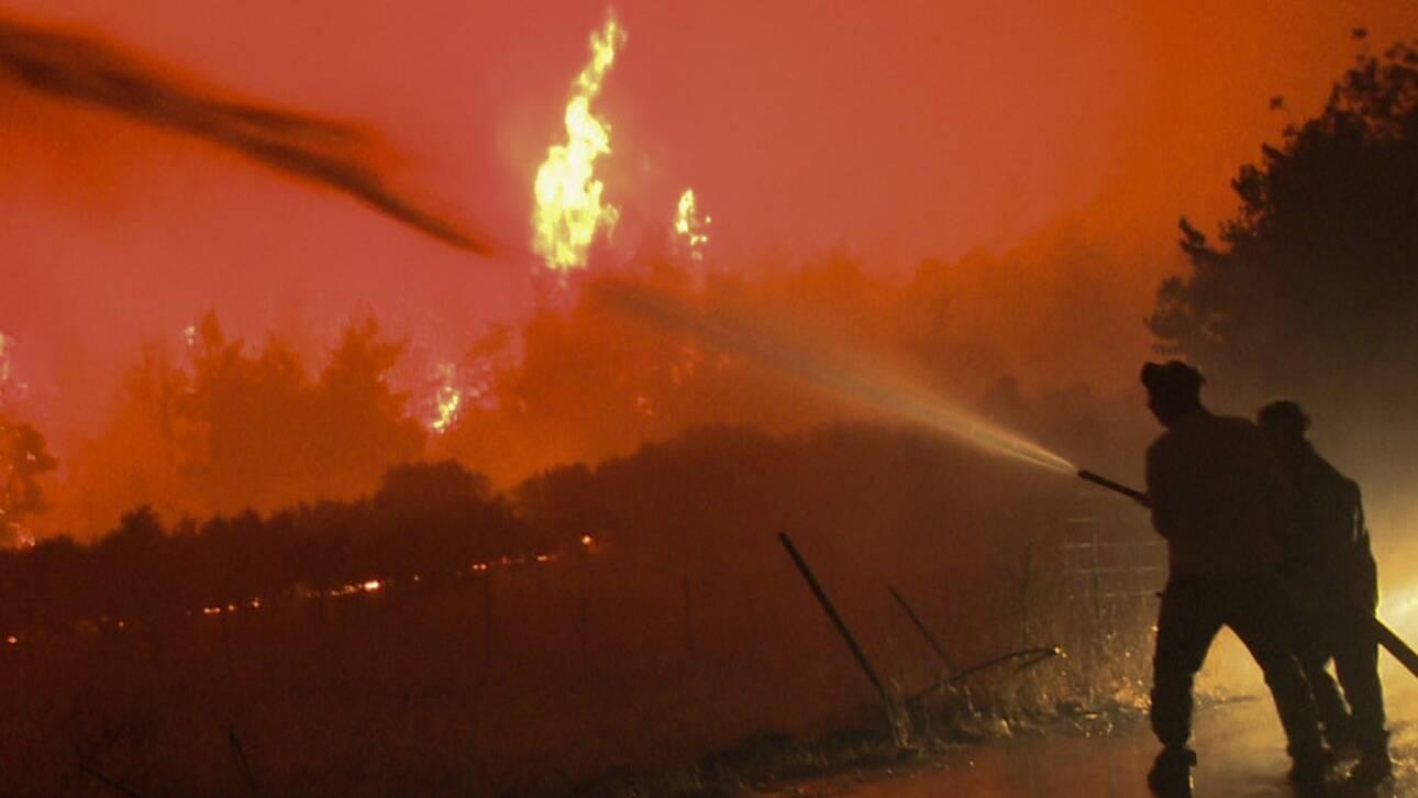 Συνεχίζεται η μάχη με τις φλόγες – Πύρινα μέτωπα σε Εύβοια, Αρχαία Ολυμπία και Μεσσηνία
