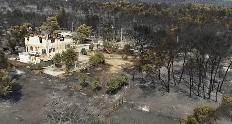 Φωτιά στη Βαρυμπόμπη: Συγκλονιστικό βίντεο από drone δείχνει την επόμενη μέρα της καταστροφής