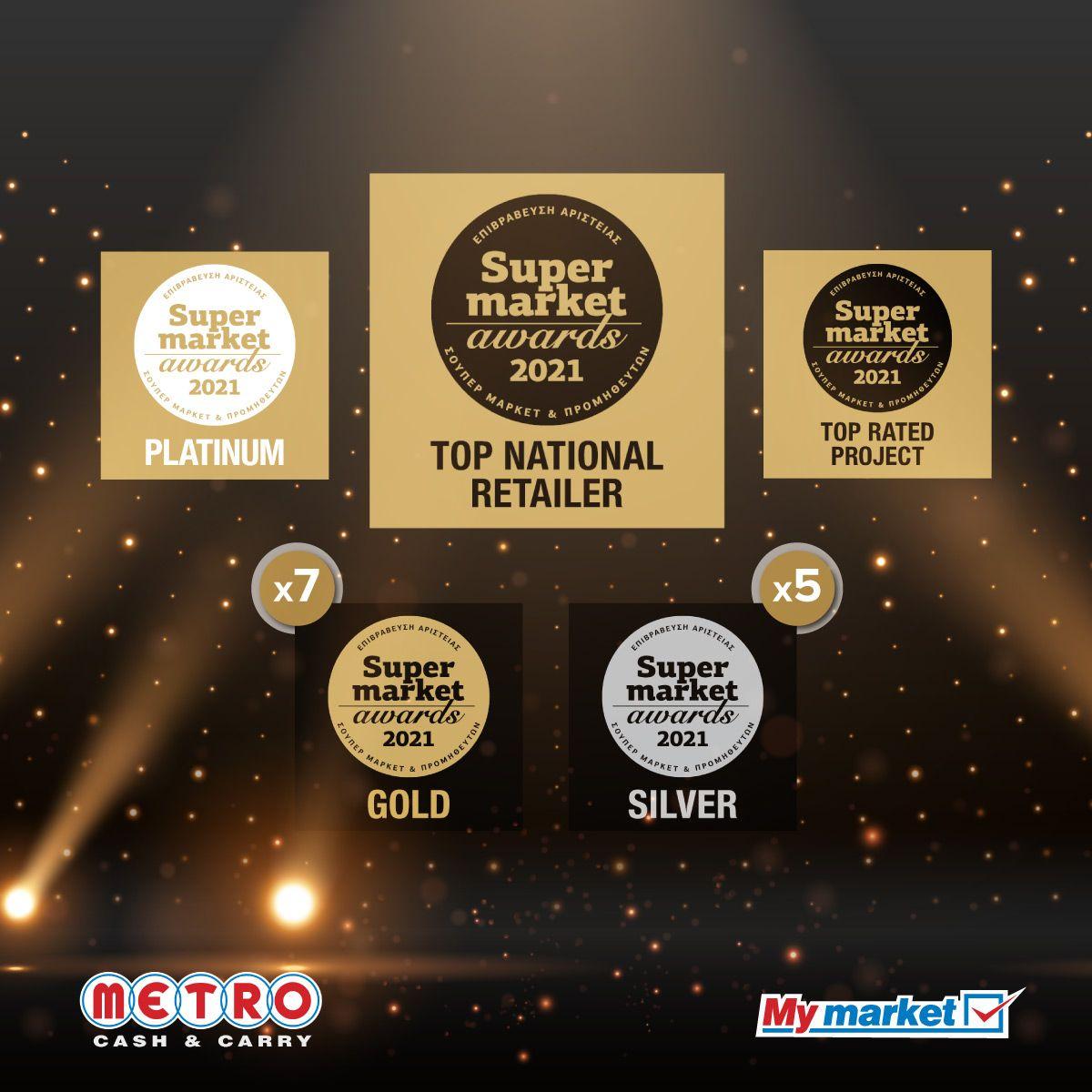 Super Market Awards 2021: H METRO AEBE ανακηρύχθηκε TOP NATIONAL RETAILER!