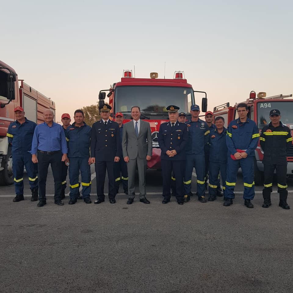 Εύσημα Λιβανού στους Πυροσβέστες της Αιτωλοακαρνανίας