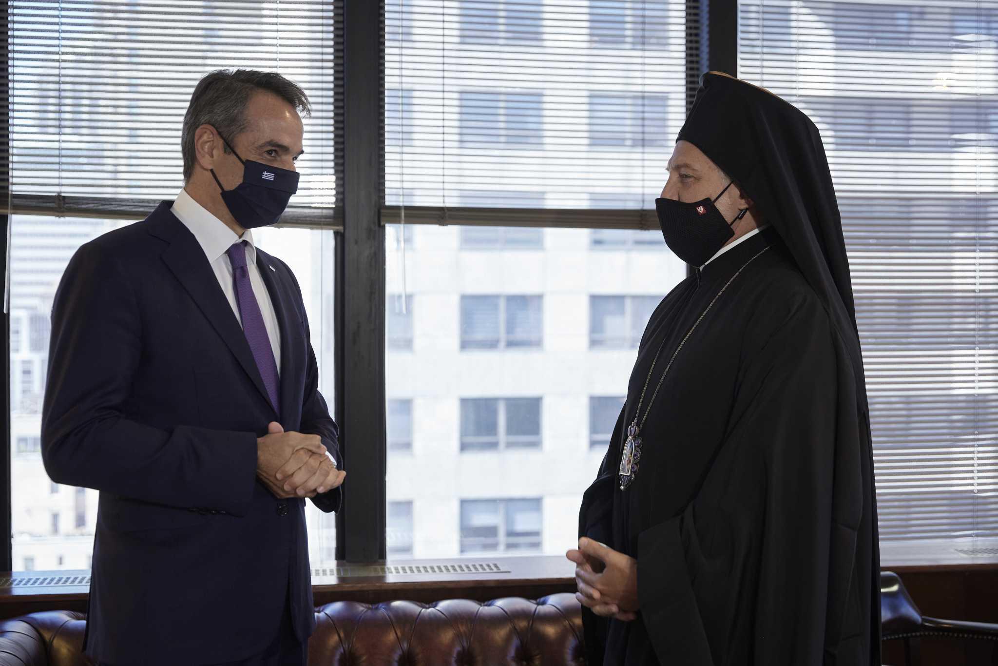 Κυριάκος Μητσοτάκης – Αρχιεπίσκοπος Αμερικής Ελπιδοφόρος: Συνάντηθηκαν στη Νέα Υόρκη και «δεν υπάρχει πια θέμα»