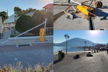 Βόνιτσα: κατέστρεψαν ξανά τις μπάρες στην παραλία