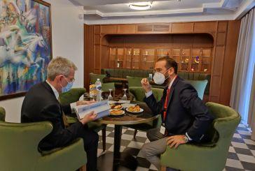 Το επενδυτικό προφίλ της Δυτικής Ελλάδας παρέδωσε ο Ν. Φαρμάκης στον Πρέσβη των ΗΠΑ