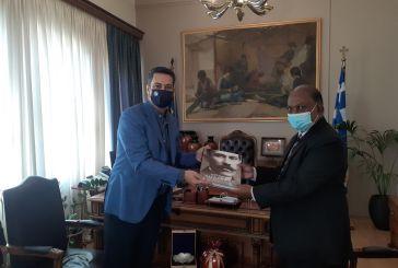 Τον Πρέσβη της Ινδίας υποδέχθηκε ο δήμαρχος Αγρινίου