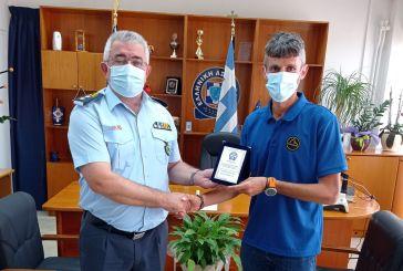 Βραβεύτηκε από τον Περιφερειακό Αστυνομικό Διευθυντή ο Φώτης Ζησιμόπουλος